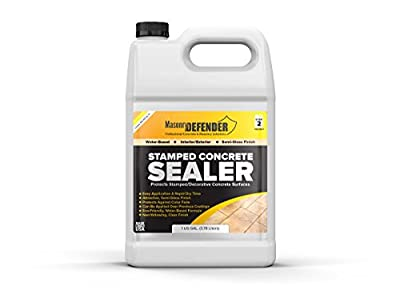 Stamped Concrete Sealer, 1 Gal - Clear, Water-Based, Semi-Gloss Sealer for Decorative Concrete Surfaces