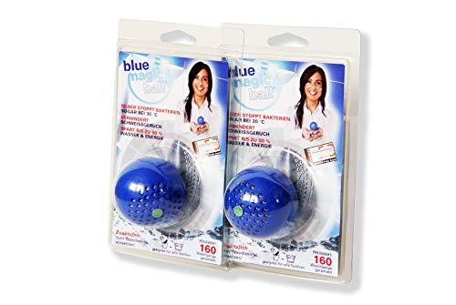 BlueMagicBall- 2-er Pack Waschball Stoppt Schweißgeruch und Bakterien in der Wäsche und Waschmaschine!