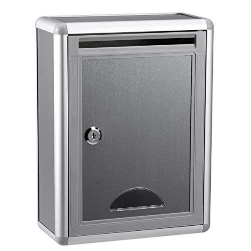 NUOBESTY Briefkasten Vorschlagsbox Abschließbare Box interner Briefkasten hängender Beschwerde-Vorschlag-Kasten Zur Wandmontage oder frei stehend Aluminiumlegierungs-Kasten