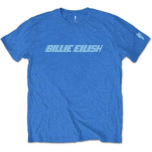 Billie Eilish Herren T-Shirt Racer Logo blau