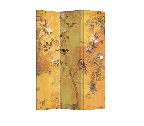 Fine Asianliving Paravent Raumteiler Trennwand Spanische Wand Raumtrenner Sichtschutz Japanisch Orientalisch Chinesisch L120xH180cm Bedruckte Canvas Leinwand Doppelseitig Asiatisch -203-161-3