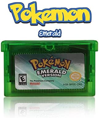 Pokemon Emerald Reproduction Cartridge in Clear Case product image