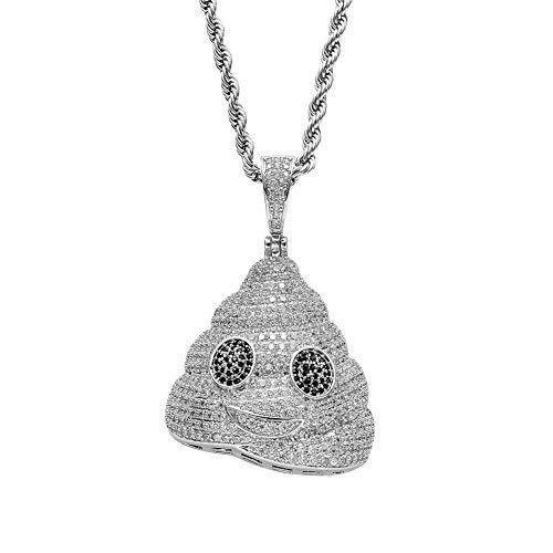 Moca Jewelry - Colgante de Emoji con diseño de Taburete de
