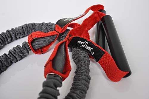 DITTMANN Premium Body Tube Expander Fitnessband Nylonummantelung rot/stark