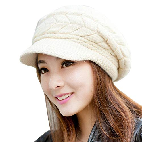 QS_Go Sombreros de Mujer Invierno Sombrero de Punto...