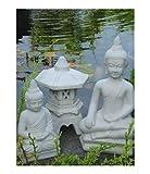 2 x BUDDHA + YUKIMI klein japanische Steinlaterne