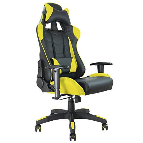 Silla gaming amarilla y negra estilo Racing