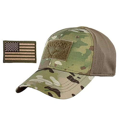 360a325b7cd49 2A Tactical Gear Condor Outdoor Cap   USA Flag Patch Stitching   Excellent  Fit for Most