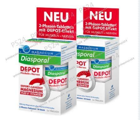 MAGNESIUM DIASPORAL DEPOT Muskel und Nerven - Original-Doppelpack von primeservice24®