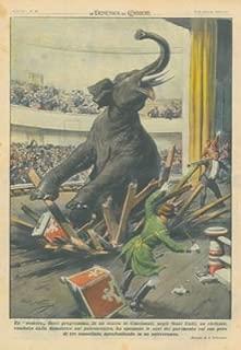 In un teatro di Cincinnati un elefante condotto dalla domatrice sul palcoscenico ha spezzato le assi del pavimento col suo peso di tre tonnellate, sprofondando in un sotterraneo.