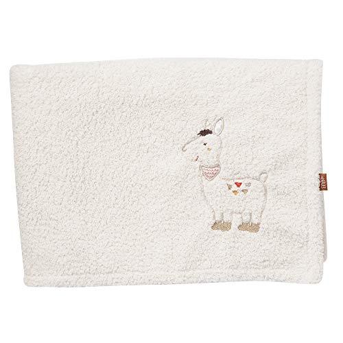 FEHN 058239 knuffeldeken Lama 2-laags/knuffeldeken voor baby's en peuters vanaf 0+ maanden - om te knuffelen, als kruipmat, snoeffeldoek of deken voor thuis en onderweg