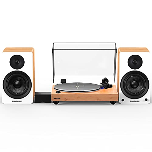Fluance Reference RT85 High Fidelity Vinyl Turntable with PA10 Phono Preamp and Ai61 Powered 6.5