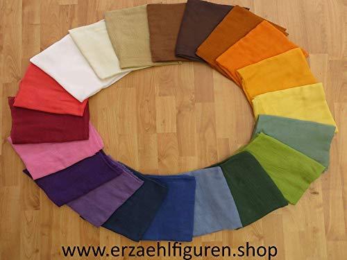 Gaze - Gazestoff - Meterware in 45 Farben - Baumwolle