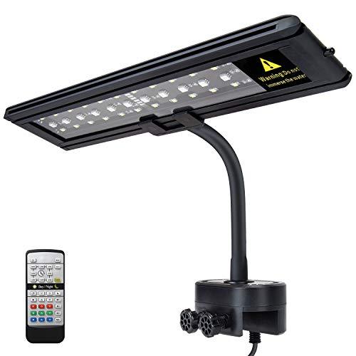 IREENUO LED Aquarium Beleuchtung, Aquarium Klemmleuchte mit Fernbedienung, Aquariumlampe für Reef Coral und Wasserpflanzen