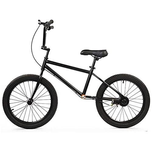 Bicicleta Sin Pedales Bici de balance grande negro de 20 pulgadas con neumáticos de aire Bicicletas de no pedal para niños grandes / adultos con asiento y reposapiés ajustables, bicicleta de equilibri