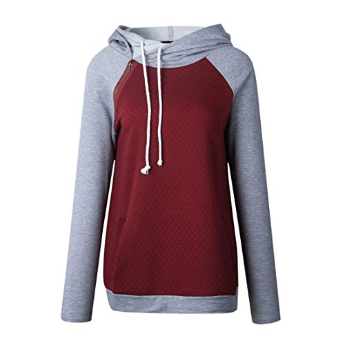 Sweatshirt Damen Hoodie Damen Elegant Komfortabel Beiläufig All-Match Mode Pullover Neues Winter Herbst Baumwolle Lässig Langarm Damen Sweatshirt Red S