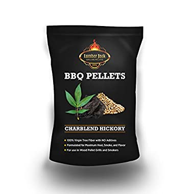 Lumber Jack 20-pounds BBQ Grilling wood pellets (Charblend Hickory (Hickory and Charcoal))