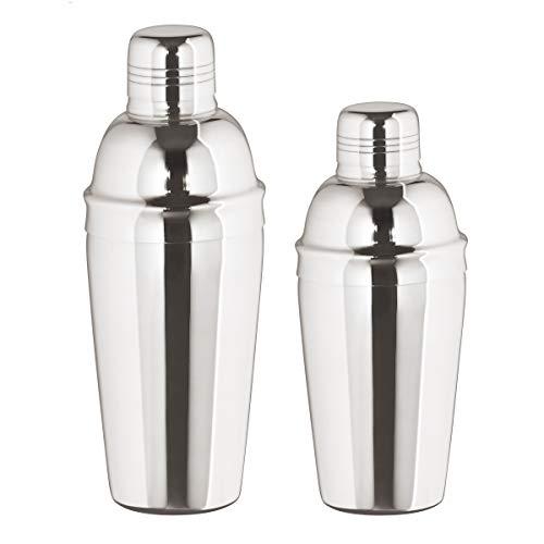 Cocktail Shaker 3tlg. - Edelstahl mit Sieb - 750 ml. - HOCHGLANZ POLIERT