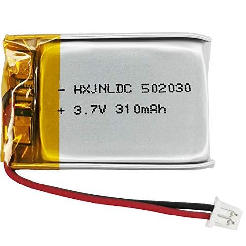 Batería 3,7 V 310mah 502030 para VXI blueparrott b250 - XT Bluetooth Headset Battery Replacement Dashboard nextbase CarLog 402g 412gw 512g Cobra 840 Keychain Camera 808 Small Cameras C3, C11 16