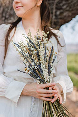 White Larkspur, French English Lavender and Wheat, Dried Wedding Bouquet, Brides, Bridesmaids, Boutonnieres, Corsages