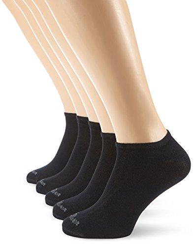 s.Oliver S24118 Calcetines Cortos, OPACAS, Negro, 39-42 (Pack de 5) para Mujer