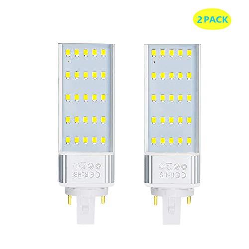 Luxvista G24 7W 2 Pins Bombilla de Maíz PL LED, 2x Lámpara Fluorescente G24 de...