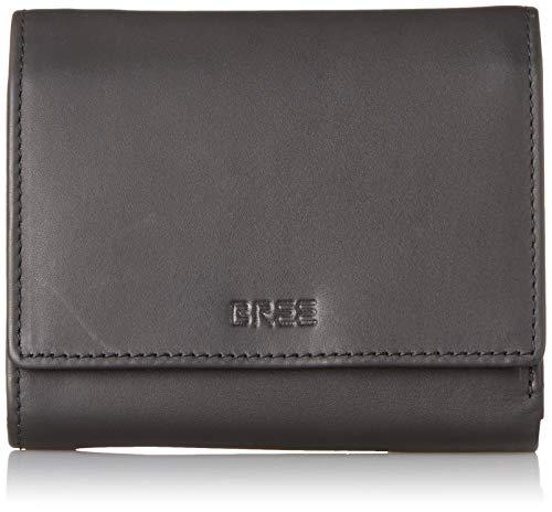 BREE Collection Damen Liv New 106, Black Smooth, Combi. Purse Geldbörse Schwarz (Black Smooth)