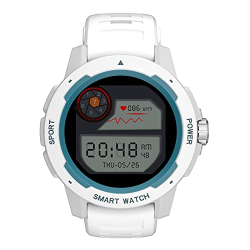 Smartwatch Orologio Fitness Donna Uomo Smart Watch Android iOS Contapassi Cardiofrequenzimetro da Polso Orologio Sportivo Conta Calorie Activity Tracker,Bianca