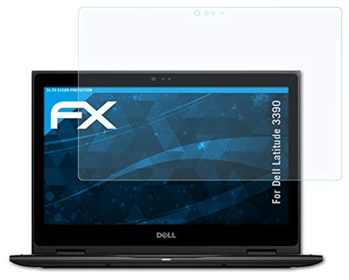 atFoliX Screen Protection Film compatible with Dell Latitude 3390 Screen Protector, ultra-clear FX Protective Film (2X)