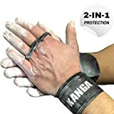 KANGA 2-IN-1 Premium CrossFit Grips- Wrist Support And Palm Protection Combined