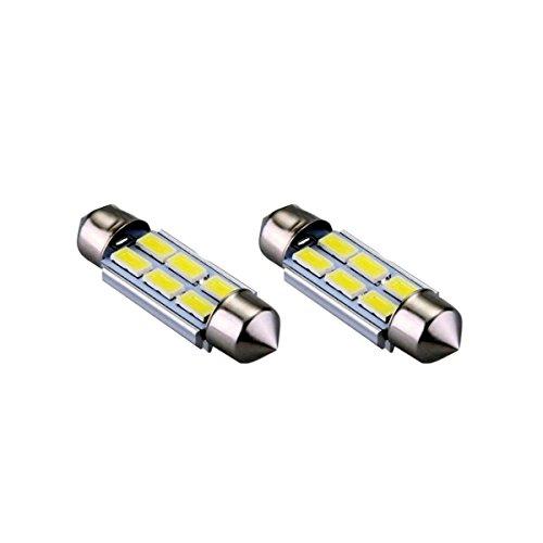 S42C6WK - Blanc Canbus Festoon Lumière C5W 42mm 6 LED SMD éclairage de plaque d'immatriculation éclairage intérieur (pas d'erreur)