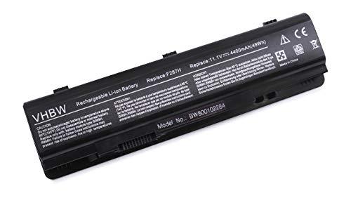 vhbw Batterie Li-ION 4400mAh 11.1V Noire pour Dell Inspiron 1410, Vostro 1014, 1015, A840, A860, A860n, remplace Les modèles 312-0818, 451-10673, F286H