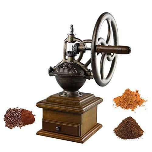 Bureau Moulin à café manuel Moulin à café en acier inoxydable moulé à la main avec moulin à café Graines de noix (Color : B)