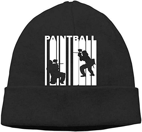 hgfyef Men/Women Retro 1970â€s Style Paintball Players Silhouette1 Outdoor Fashion Beanies Hat Soft Winter Skull Caps #1885