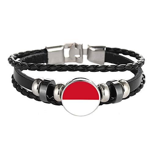 Nationale Vlag Stijl Armband Creatieve Monaco Reizen Souvenir Gift Gepersonaliseerde Geweven Armband Accessoires Voor Mannen en Vrouwen