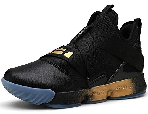 SINOES Zapatillas De Baloncesto para Hombre, Botas De Baloncesto De Absorción De Choque De Rendimiento Zapatillas KPU + De Tejido Ligero
