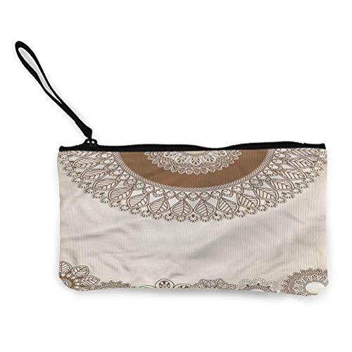 Henna Crossbody Wrist Bag Wristlet Stärker als Sie Denken Verzierte Blumenarrangements