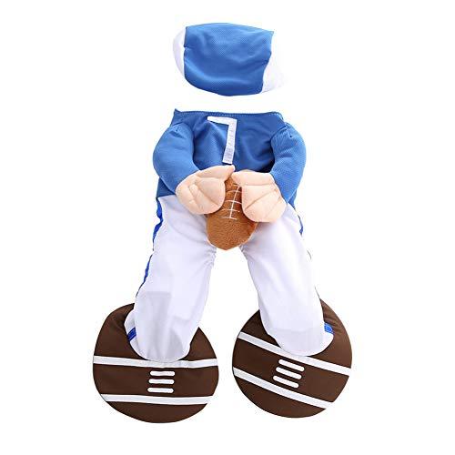 HHXXTTXS Mascota Jugador de béisbol Cosplay Disfraz de Perro Ropa de béisbol Fiesta Navidad Ropa de Halloween para Perro Disfraz de Gato para un Gato