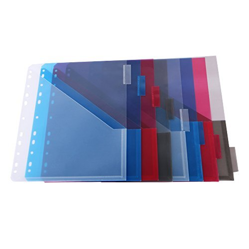 Eagle Plastic Divider with Two Pockets, Built-in Name Tab Pocket, Fits for Standard 3-Ring Binders (Two-Pocket)