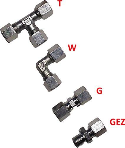 TGO 8mm Schneidring-Verschraubung - verzinkt