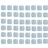 TENS Unit Pads 48 Pack Wired Self-Adhesive Electrodes Premium Replacement Pads for TENS Units - 2x2 Inches (2x2-48 Pack)