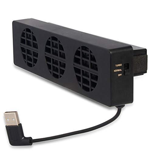 JsJr-K-In Ventilador de refrigeración para consola de juegos con ventilador de refrigeración USB de 3 ventiladores para Nintendo Switch NS Stand