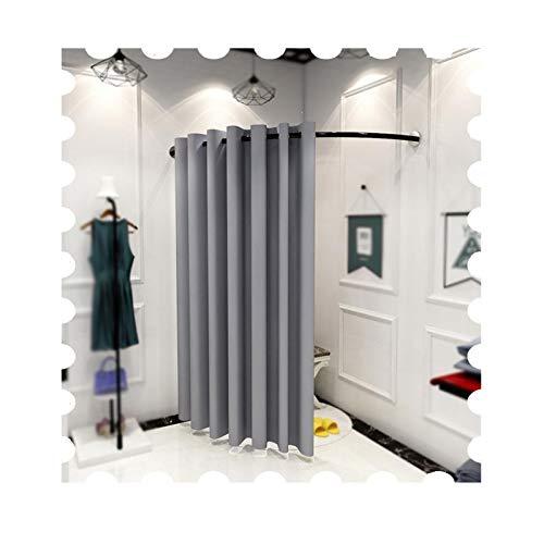 JIANFEI Vestuario Portátil Probador De Tienda, Móvil Pista Vestuario, Microfibra Sombreado Cortina Equipo por Tienda Oficina, Intimidad Dividir, Retirable (Color : Gray, Size : 100X100X200CM)