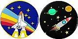 "Set 2 Spaceship 2.25"" Bottle Openers w/Keyring Spacecraft Rocket Ship Space Shuttle Astronaut"
