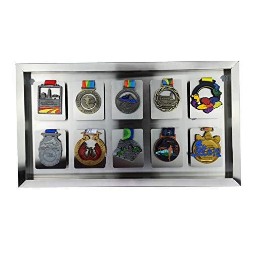 ABCSS Medal Display Rack 304 Stainless Steel Sports Medal Storage Frame,suitable For Collecting Military Medals And Honor Badges