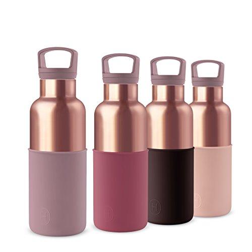 HYDY vacuüm geïsoleerde thermo-waterfles - BPA-vrij roestvrij staal - dubbele muur SS - houd ijs langer - houd drankjes warm - Roestvrij - moderne stijlvolle fles in 2 maten & 20+ kleuren