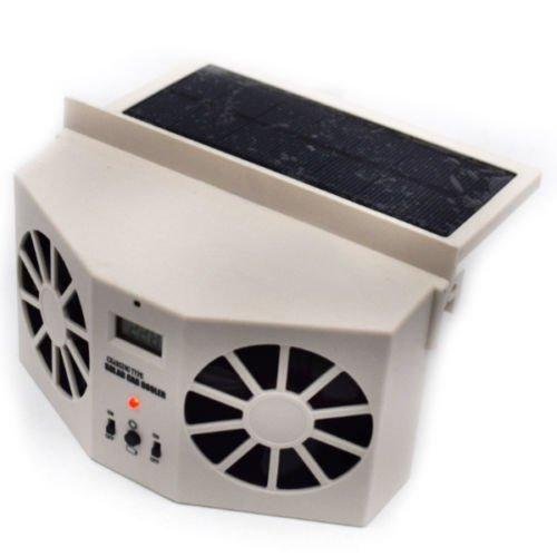 Ivoire.. solaire double ventilateur de voiture avant/arrière Window Air Vent frais Cooler ventilateur Dossy