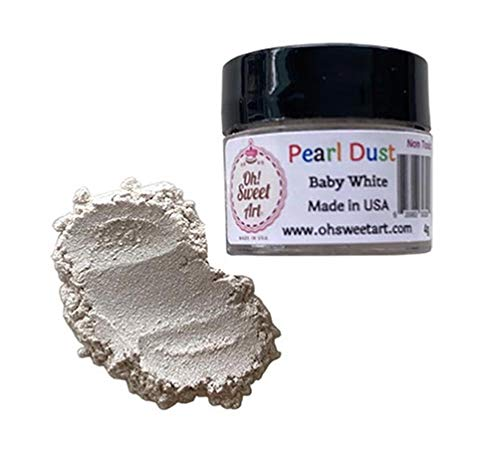 BABY WHITE PEARL LUSTER DUST 4 grams supreme Ar Oh Sweet Max 48% OFF container By