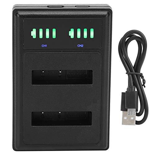 Snufeve6 Cargador de batería para cámara, protección portátil contra sobrecarga Interfaz de Entrada Tipo C Interfaz USB con Pantalla LCD Base de Carga de batería, para Cargar la cámara