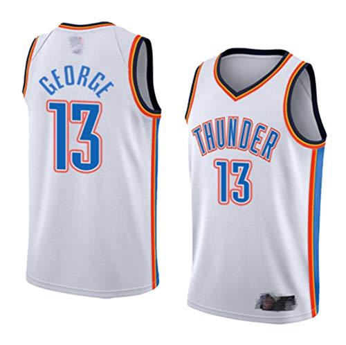 EDFG OKC (Paul George Urban Nr. 13 und Anthony Nr. 7) Basketballkleidung Oklahoma City Thunder Trikot Kinder Junge Männer Damen Klassische ärmellose Herren Basketball Weste Hemd Shorts Anzug-M-13